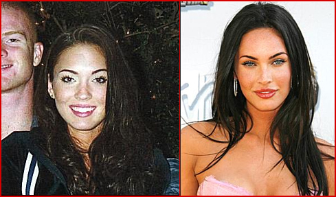 megan fox before plastic surgery and after