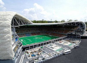 Soccer Stadium Lego Sculpture