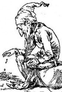 picture of a leprechaun engraving from 1900
